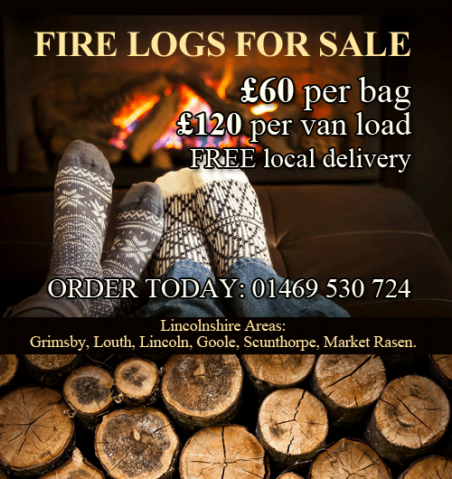 Fire Logs Lincolnshire Areas: Grimsby, Louth, Lincoln, Goole, Scunthorpe, Market Rasen